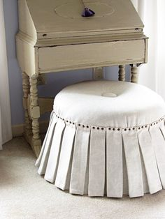 how to make a no sew ottoman