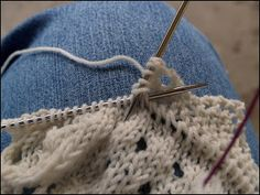 Creative Pop-Offs: Knitted-On Edgings- because knitting it and then sewing it on just seems like too much work!