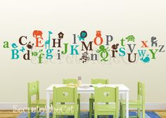 Elegant Kids Alphabet Vinyl Decal   ABC Decal   A To Z Letters   Nursery Decal   Wall  Sticker   Children Decal Photo Gallery