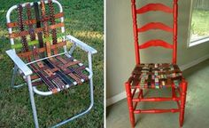 ..Made from old belts! Hmmm...