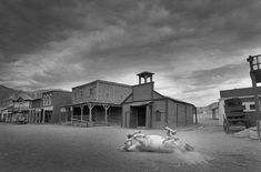 SPAIN. Almeria. 1991. Old cinema studios used for American movies, today a theme parc also used for advertising shootings.
