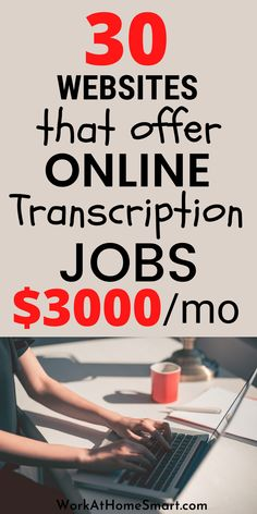 Looking for the best work from home transcription jobs? Here's a list of companies with online transcription jobs for beginners and experts. Transcription Jobs From Home, Transcription Jobs For Beginners, Companies Hiring, Work From Home Companies, Online Jobs, Good Things, Website, Business, Ideas