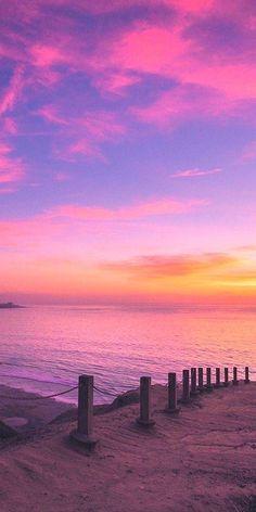 HD wallpaper Cooper Copii: Most beautiful nature wallpaper for everyone Beach Sunset Wallpaper, Summer Wallpaper, Scenery Wallpaper, Pink Ocean Wallpaper, Iphone Wallpaper Sky, Pastel Sunset, Sunset Sky, Purple Sunset, Pink Sky