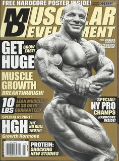 Muscular Development magazine Huge muscle growth Growth hormone facts Protein