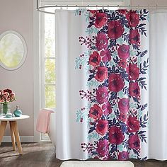 Pink Japanese Cherry Blossom Bathroom Shower Curtains Beautiful Spring Landscape Flower Shower Curtain Mildew And Fade Resistant Waterproof Polyester Fabric 36x72Inch