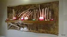 A  large original 4ft natural rustic driftwood forrest wall sculpture shelf