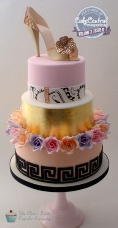 Found on Clever little cupcake - Fashion Cake - The cake was to be inspired by a Versace haute couture gown.
