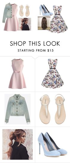 """""""back to school #2"""" by haileypeay on Polyvore featuring Chicwish, Yves Saint Laurent and Miu Miu"""