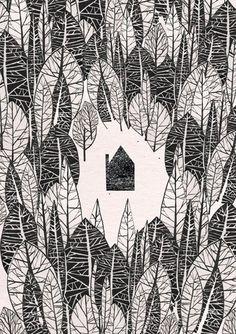 In the Woods illustration - JustineHowlett on Etsy
