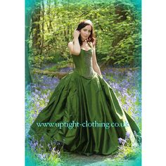 Green Wedding Dress...hmmmmmayyyybe? not sure if I would, very bold, but lovely