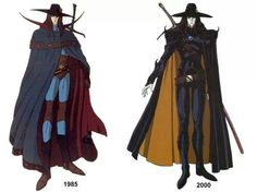 Vampire Hunter D ~ 1985 and 2000 costume designs.                                                                                                                                                      More