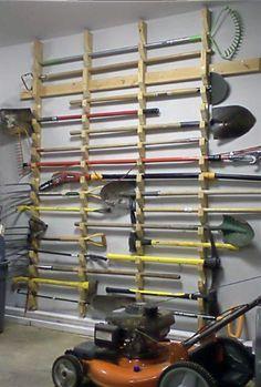 Rasen-Werkzeug-Speicher-Ideen