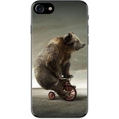Hat Shark Apple iPhone Custom Case 5 / and SE White Plastic Snap on - Giant Grizzly Bear Riding Small Tricycle Funny Humor Iphone Phone Cases, Phone Covers, Best Iphone, Apple Iphone, Space Wallpaper, Big Bear, Cute Bears, Iphone Models