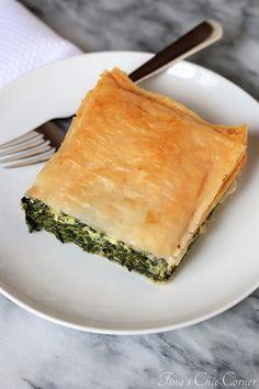 Spinach Pie (Spanakopita) for Two – Tina's Chic Corner