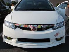 Post pics of your sticker bombs whether it be on your car or something else! Sticker Bomb, Car Goals, Jdm, Honda, Stickers, Vehicles, Cars, Lovers, Deco