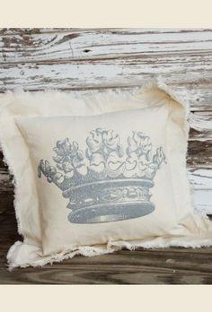 vintage ornate crown pillow