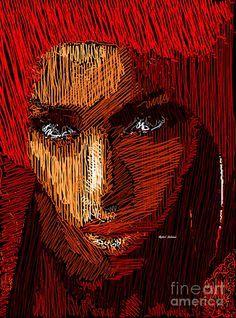 Studio Portrait In Pencil 61 Digital Art by Rafael Salazar