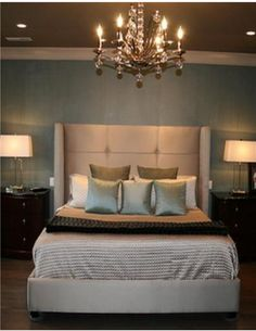 Soft soothing bedroom colors.