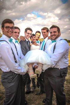 #Bride #Groom #Groomsmen #Wedding #Fun