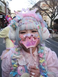 portrait of girl wearing fairy kei clothes