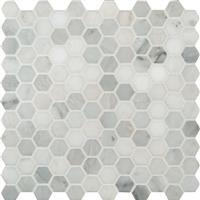"MS International Arabescato Carrara Marble Mosaic Hexagon 12"" x 12"" : SMOT-ARA-1HEX | Efloors.com 10 sf"