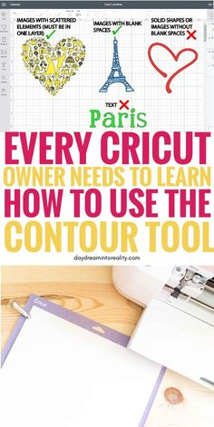 cricut crafts Hi Daydreamers! On today's tutorials you will be learning how to contour in Cricut Design Cricut Explore Projects, Cricut Explore Air, Vinyl Projects, How To Use Cricut, Cricut Help, Cricut Air 2, Cricut Vinyl, Cricut Fonts, Planners
