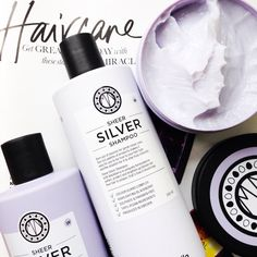 HAIR: Brightening Sheer Silver Collection by Maria Nila... http://www.thestylelane.com/maria-nila-sheer-silver/4590325736