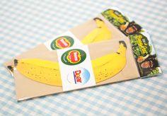 バナナメッセージカード