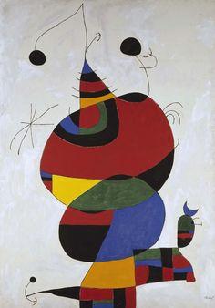 Joan Miró - Femme, oiseau, étoile (Homenatge a Pablo Picasso) (Mujer, pájaro y estrella [Homenaje a Picasso])