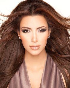 Kim kardashian makeup by Scott Barnes