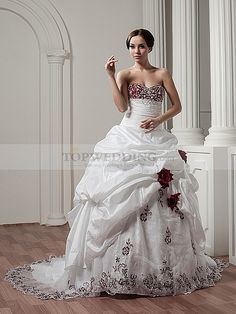 Deluxe Two Tone Strapless Sweetheart Dress with Appliques and Beading