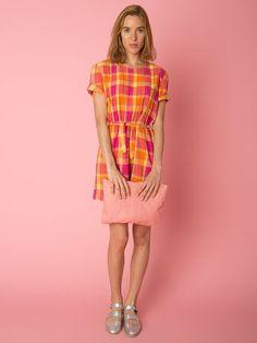 Vintage Madras Mini Dress | Shop American Apparel