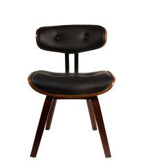 De klassieke loungestoel omgetoverd in een praktische stoel voor aan de eettafel? Dat is de Dutchbone Blackwood Stoel! Het ontwerp is chic en elegant met een knipoog naar design uit de fifties. Prachtig aan bijvoorbeeld een donkere houten tafel!