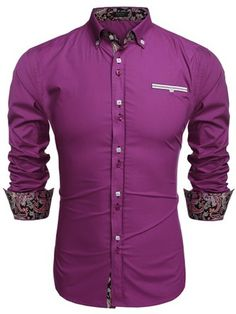 Coofandy Men's Fashion Slim Fit Dress Shirt Casual Shirt at Amazon Men's Clothing store: