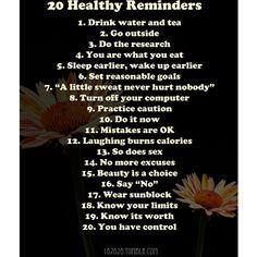 healthy reminders