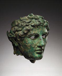 Male head, Roman civilization, Rome, ca. 1st century BC-1st century AD.