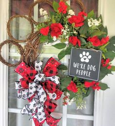 Dog Paw Summer Wreath for Front Door, We Are Dog People Black and Grapevine Wreath, Everyday Welcome Pet Wreath Summer Door Wreaths, Christmas Door Wreaths, Valentine Day Wreaths, Wreaths For Front Door, Holiday Wreaths, Halloween Wreaths, Winter Wreaths, Christmas Gifts, Christmas Decor
