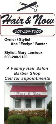 Hair & Now Family Salon  638 Crescent Street Brockton MA  508-559-8800  www.facebook.com/pages/Hair-Now/129993547103991