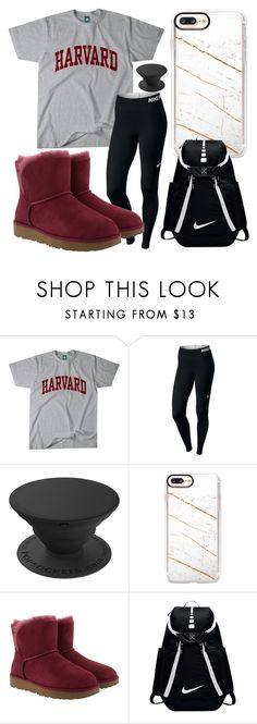 """"" by karabullock20 ❤ liked on Polyvore featuring NIKE, Casetify and UGG"