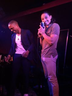 Leslie Odom Jr. and Anthony Ramos from Hamilton