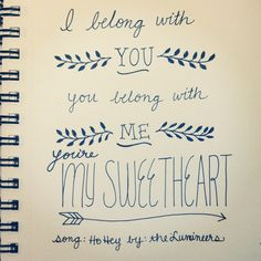 A favorite lyric from a lovely song :) #doodle #handlettering