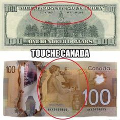 Funny pictures about The Difference Between American And Canadian Money. Oh, and cool pics about The Difference Between American And Canadian Money. Also, The Difference Between American And Canadian Money photos. Secular Humanism, I Am Canadian, Canadian Memes, In God We Trust, Thinking Day, True North, Religion, This Or That Questions, Funny Shit