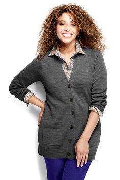 Women's Merino V-neck Cardigan Sweater