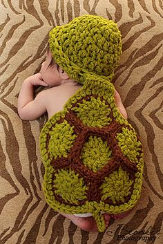 Turtle Photo Prop I crocheted for Amy Brinkmeyer at Brooke's Photography in Southeast TX