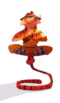 Shaolin Monk by Marta Andreeva — Animal character design