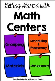 Math centers can really change your math instruction for the better. This post shares some tips and strategies for getting started with math centers in your classroom.