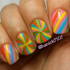This #mani makes me think #candynails :)  @ Hanick7107