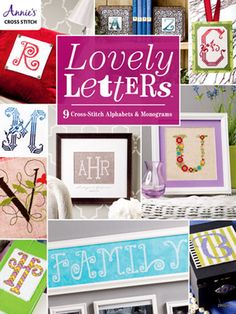 click here to view larger image of Lovely Letters - 9 Cross Stitch Alphabets (book)