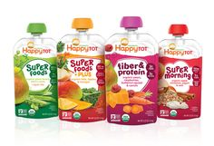 Happy Family is about more than just happiness—they're all about baby's  health, too. Since the shelf-set for baby food is quite crowded, Happy  Family asked Beardwood & Co. to help the brand better communicate the  product subranges as well as the nutritional benefits in their line of  Happy Tot foods.