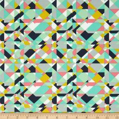 Designed by Pat Bravo for Art Gallery Fabrics, this cotton print is perfect for quilting, apparel and home decor accents. Art Gallery Fabric features 200 thread count of finely woven cotton. Colors include pink, mint, navy, chartreuse and white.